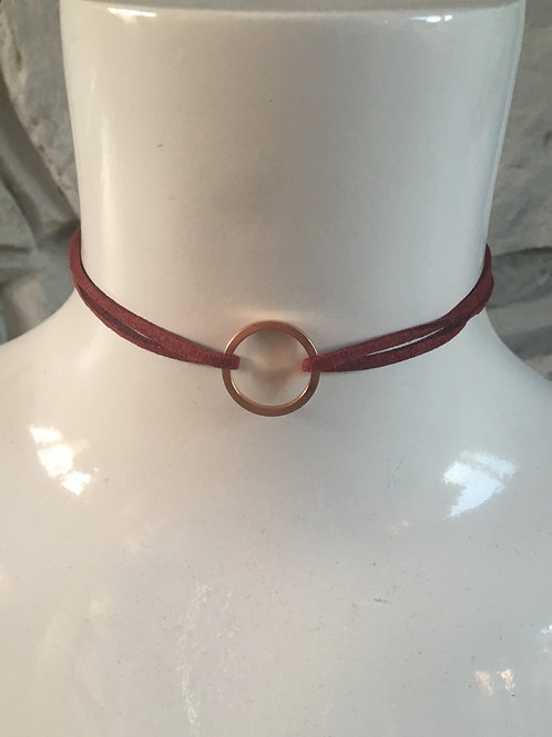 Ring Choker - Red Wine