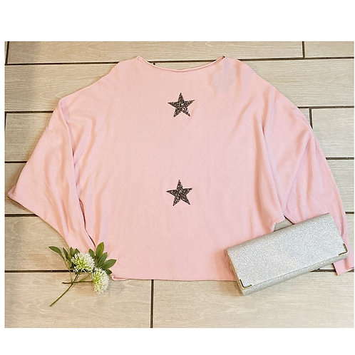 Sparkle Star Jumper in Pink