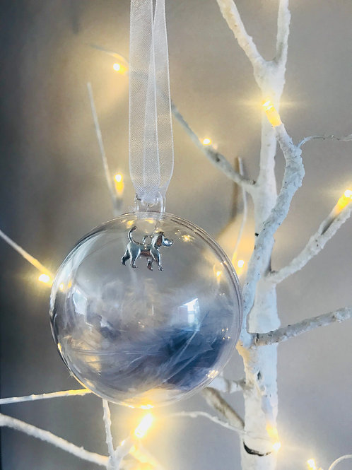 Silver Dog Bauble