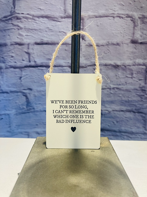 'Friends for so long' Mini Metal Sign