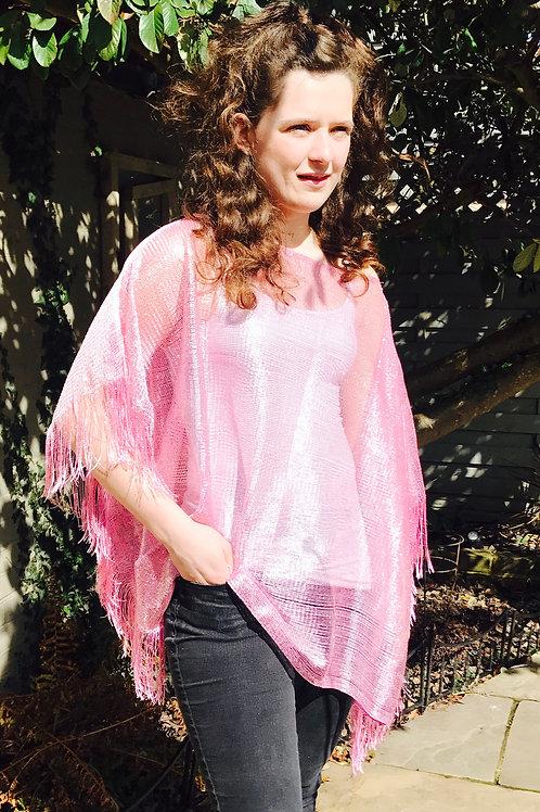 Pink Fringe Summer Top