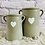 Thumbnail: Grey Vase with White Heart - Large