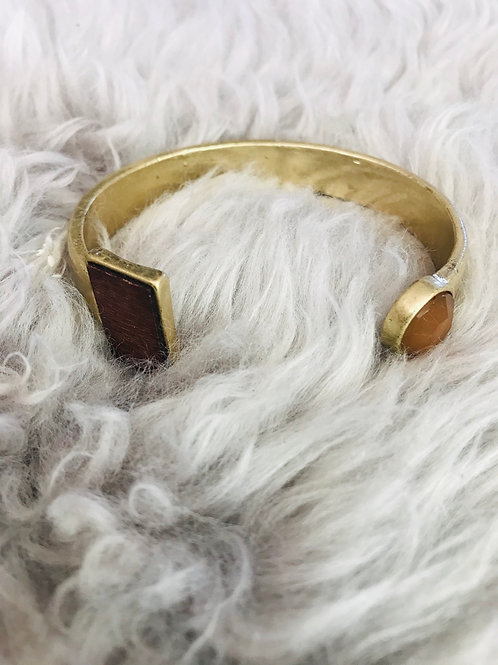 Burnished Gold Cuff Bracelet