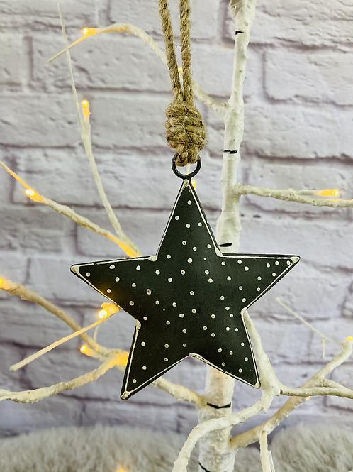 Nordic Grey Polka Dot Star