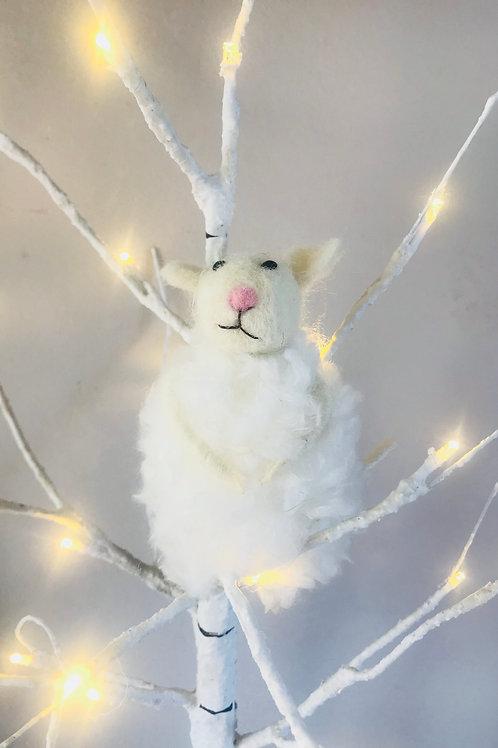 """""""Mollie"""" Fluffy Felt Mouse"""