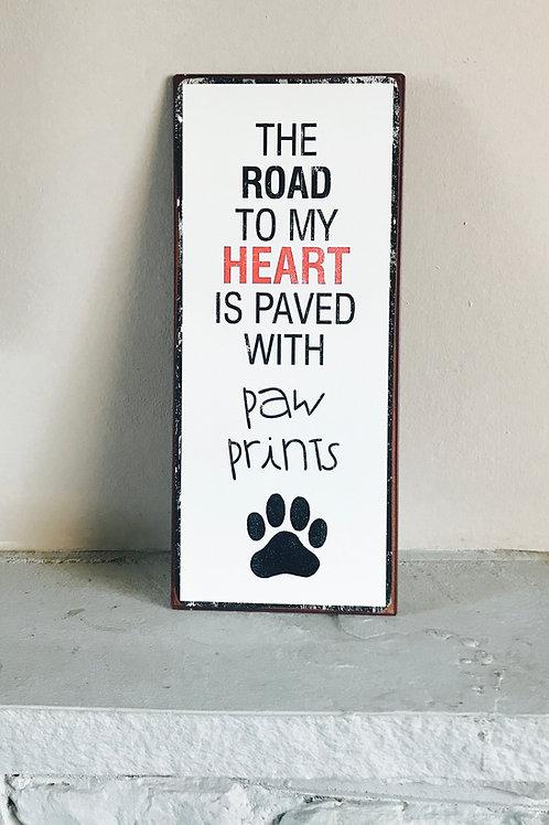 Paw Prints - Metal Sign