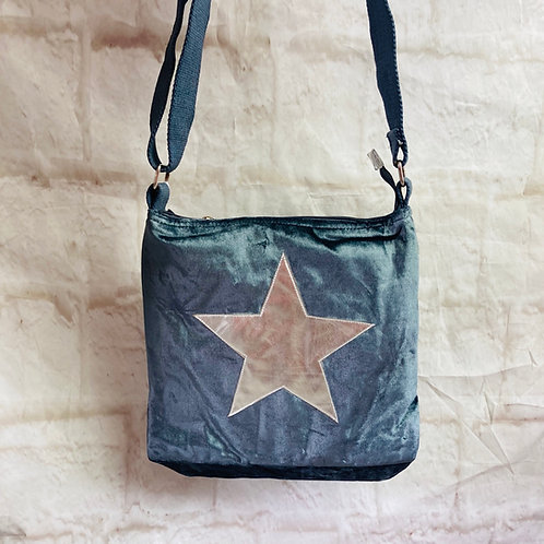 Petrol Blue Star Cross Body Bag