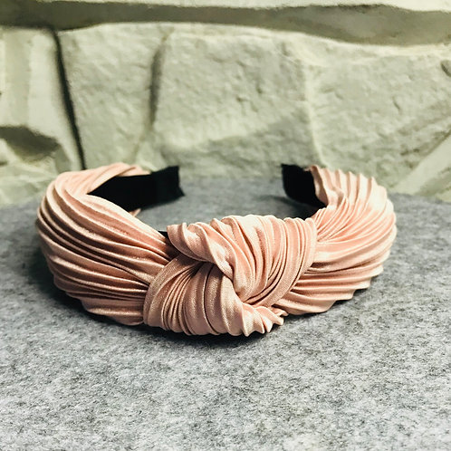 Pink Metallic Knotted Alice Band