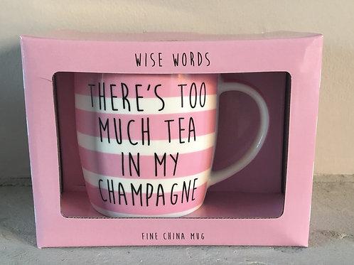 Tea in my Champagne Mug