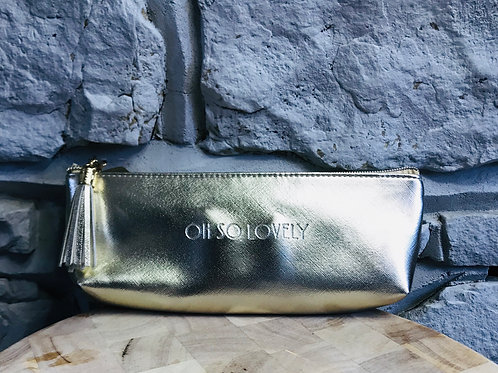 """""""Oh so lovely"""" - Gold Make Up Pouch"""