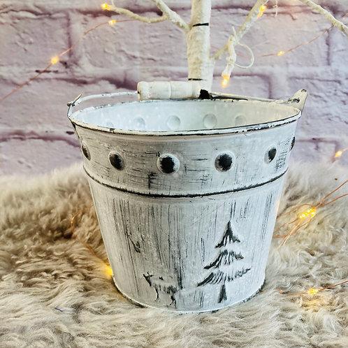 Christmas Metal Bucket