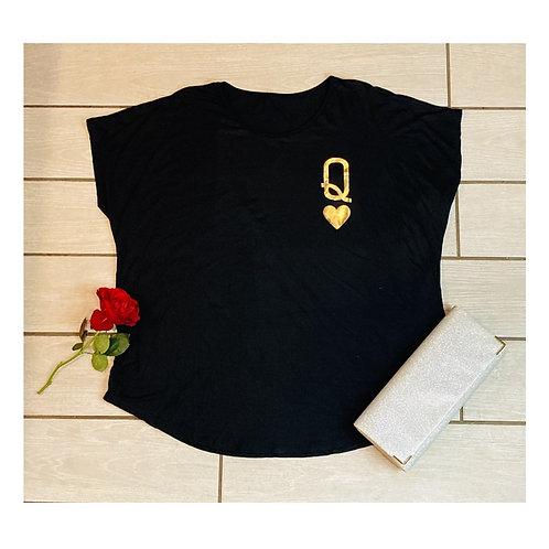 Queen of Hearts T-Shirt ~ Gold