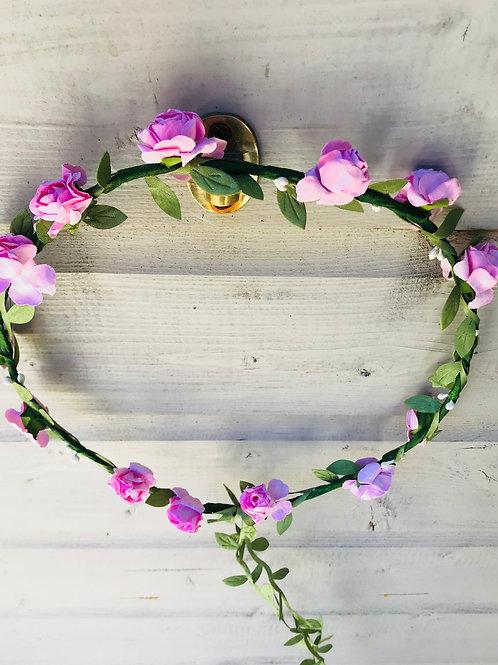 Light Pink Flower Garland