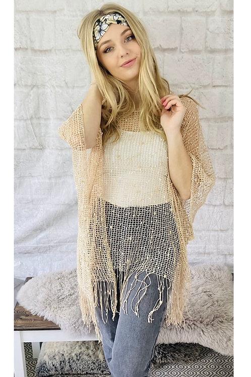 Beige Crochet Top