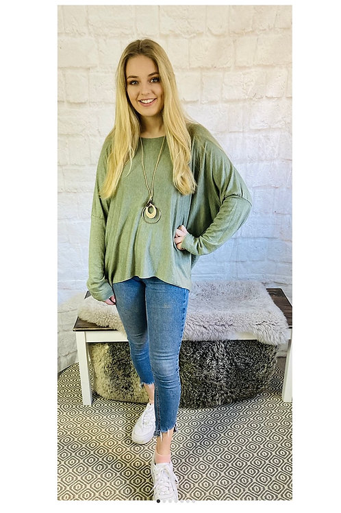 Necklace Top in Khaki