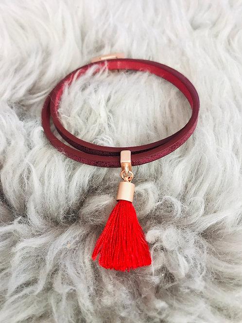 Red Boho Bracelet