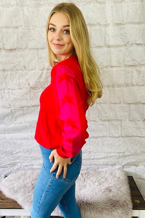 Red Star Sleeve Jumper