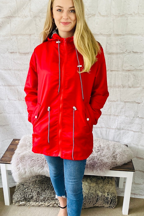 Raincoat in Red