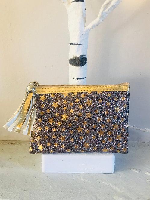 Gold Glitter Star Purse