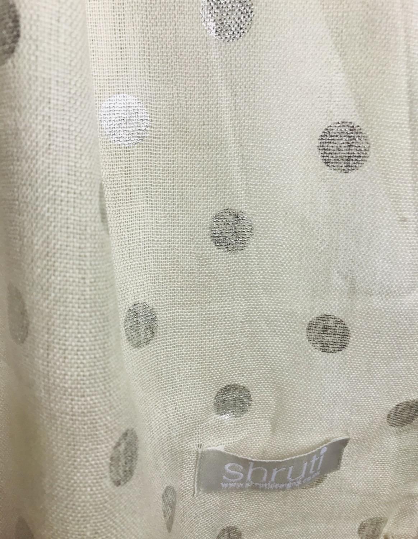 Thumbnail: Beige Metallic Dot Scarf