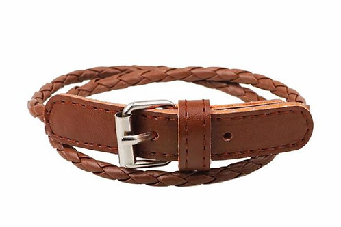 Brown Wrap Belt Bracelet