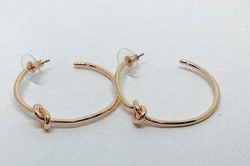 Rose Gold Knot Loop Earrings