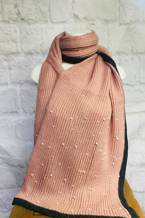 Pearl Detail Large Wrap Scarf