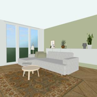 3d ontwerp woonkamer