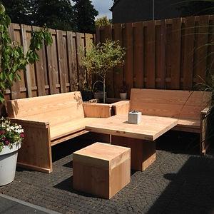 houten tuinset