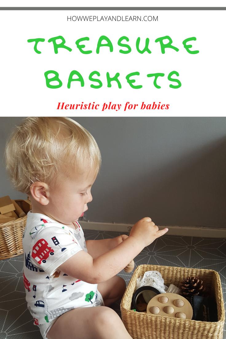 Treasure baskets heuristic play for babies
