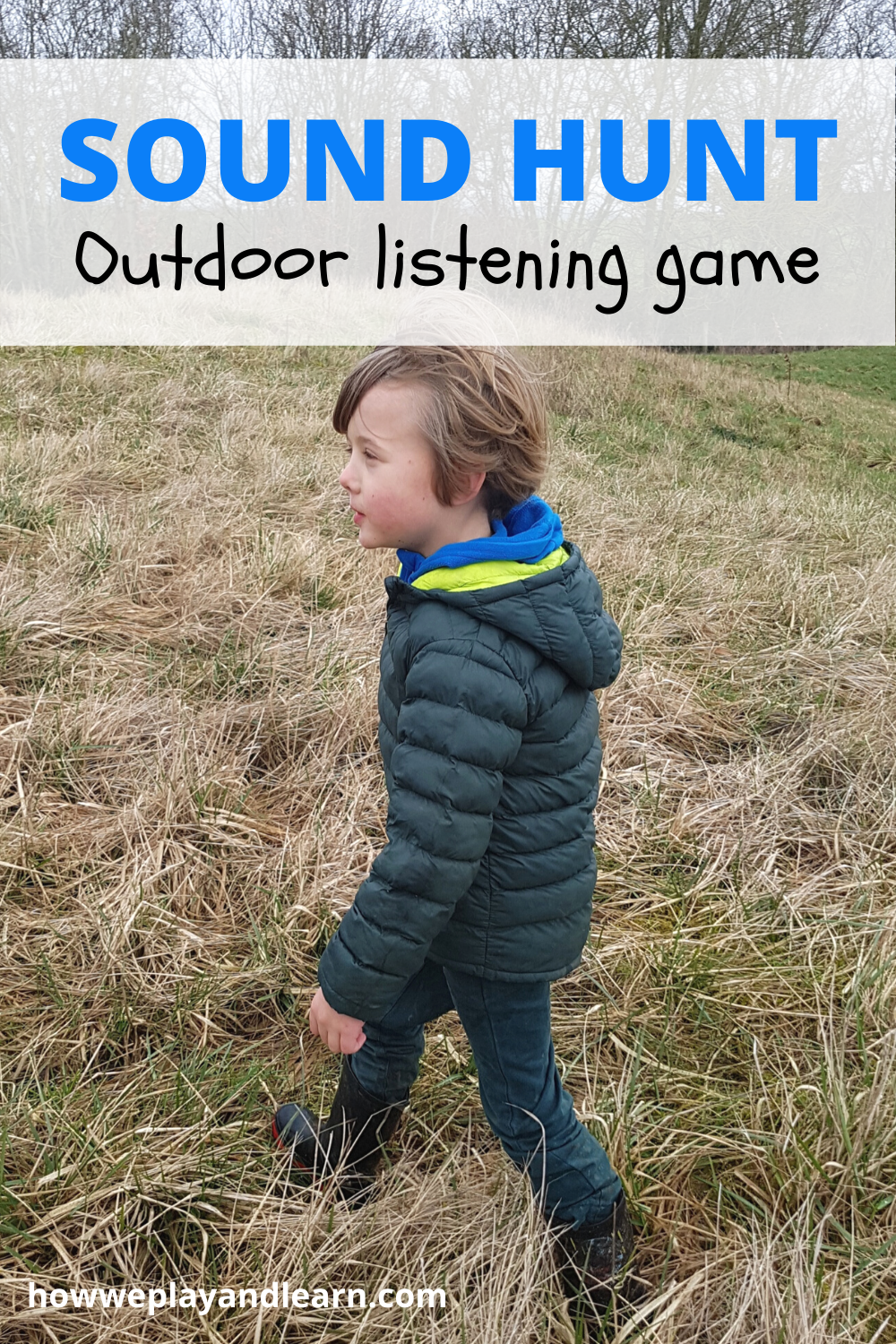 Going on a sound hunt, sensory play for kids, howweplayandlearn