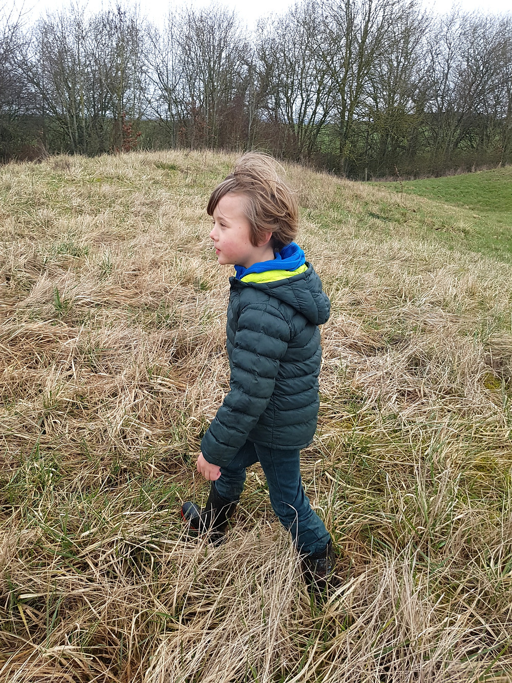 Walking through long grass, Going on a sound hunt, sensory play for kids