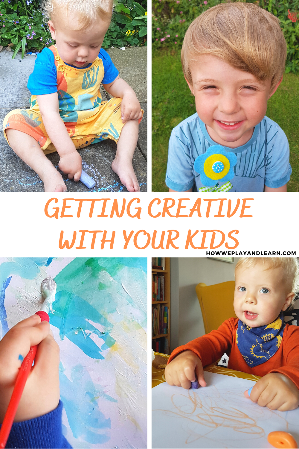Young children being creative