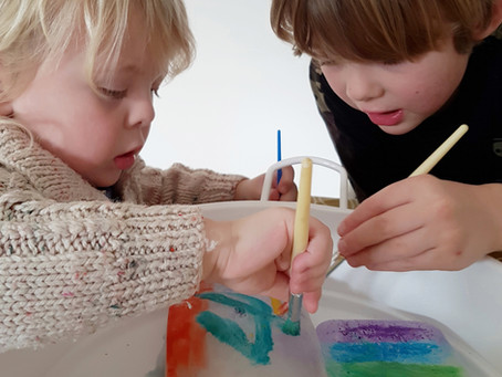 Painting ice process art