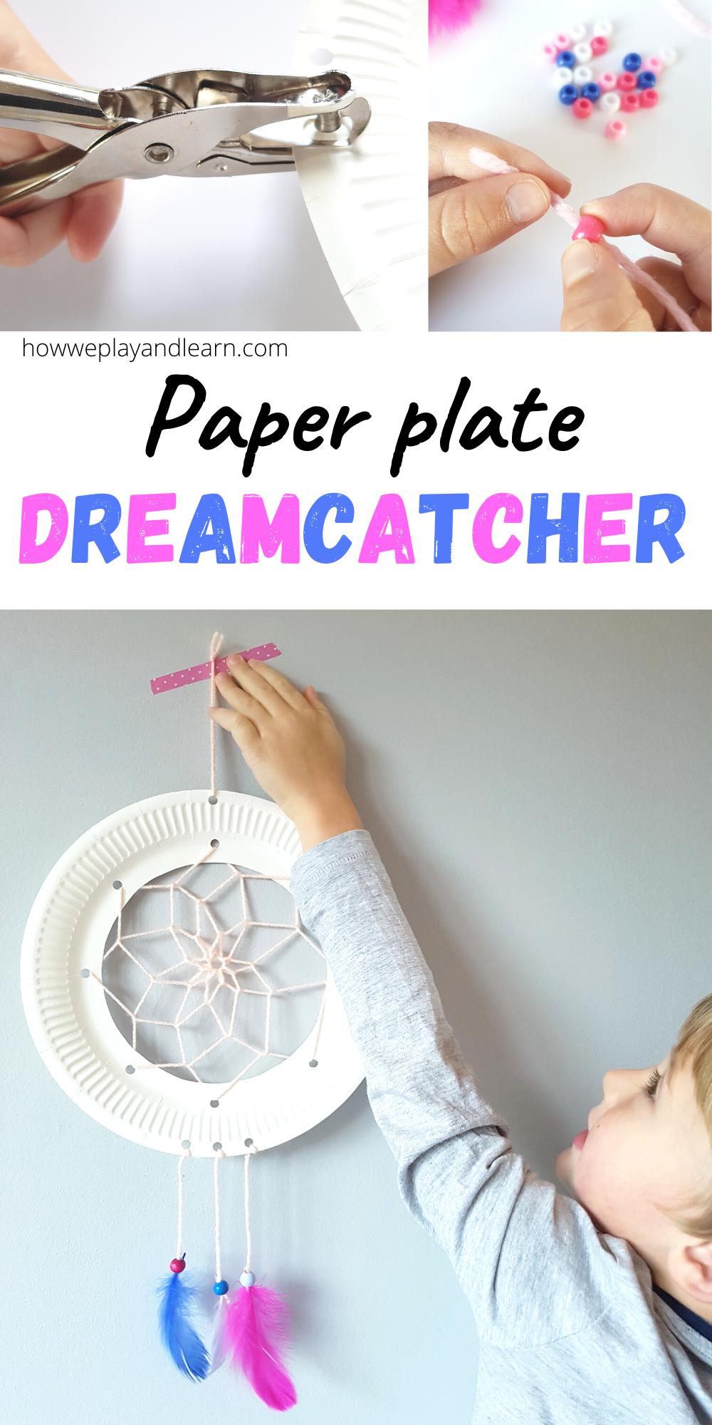 paper plate dreamcatcher children's craft