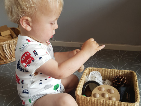Treasure baskets - heuristic play for your baby