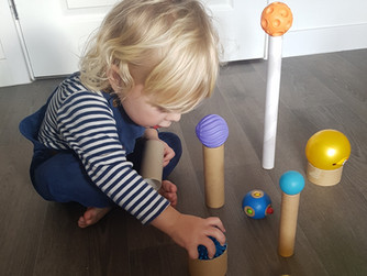 Recycled play - cardboard tubes