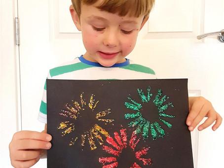Glitter fireworks craft