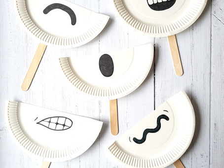 Paper plate emotions craft