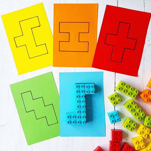 Duplo shapes, 12 puzzles to DIY