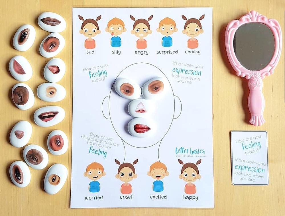 design a face children's worksheet