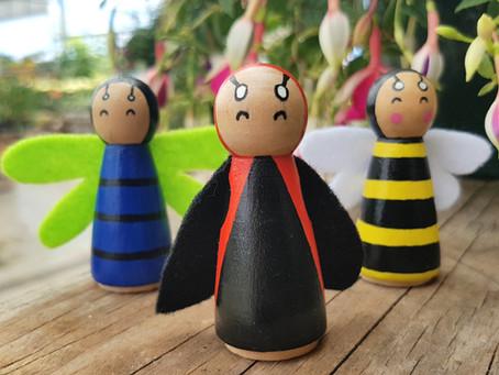 Peg doll bug craft