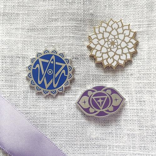 Upper Chakras (Set of 3) // Pin Badges
