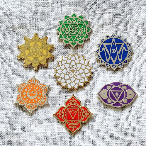 Chakra Collection (Set of 7) // Pin Badges