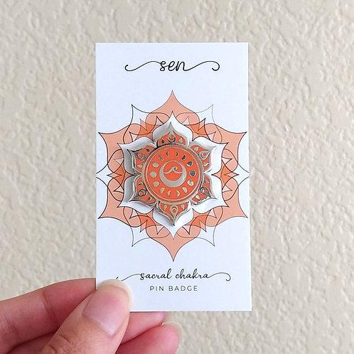 Sacral Chakra // Pin Badge