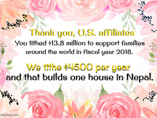 We Tithe to build Houses in Nepal