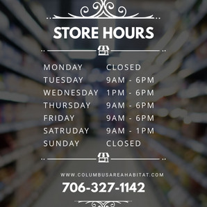 ReStore Business Hours