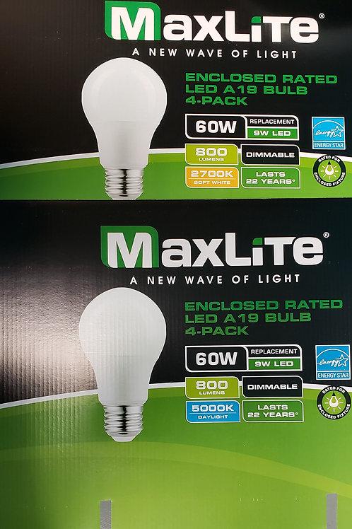 MaxLite 60W; 5000K Daylight; 2700K Soft White