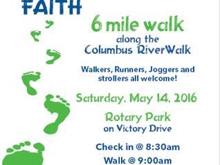 WALK OF FAITH- TOMORROW!