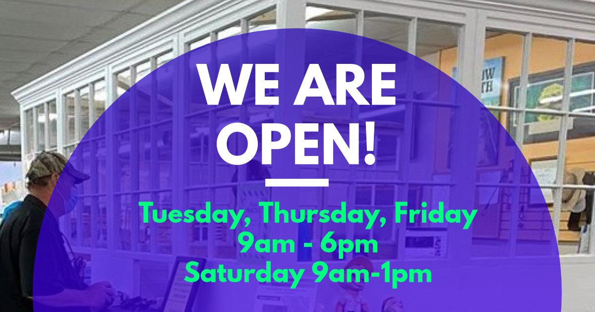 Updated We are Open